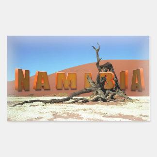 Namib Desert Sossuslvei Namibia Rectangular Sticker