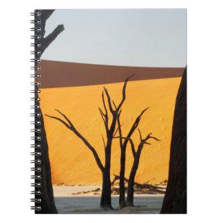 Namib-Naukluft Park, Sossusvlei   Dead Vlei Spiral Notebook