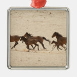 Namibia, Aus. Group of running wild horses on Christmas Ornament
