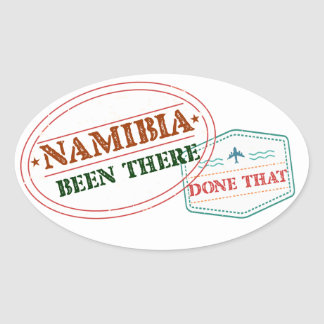 Namibia Been There Done That Oval Sticker
