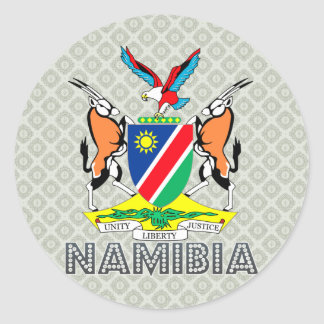 Namibia Coat of Arms Classic Round Sticker