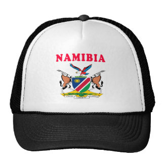 Namibia Coat Of Arms Designs Mesh Hats