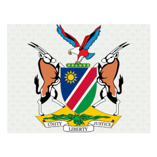 Namibia Coat of Arms detail Postcard