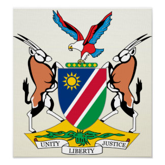Namibia Coat of Arms detail Poster