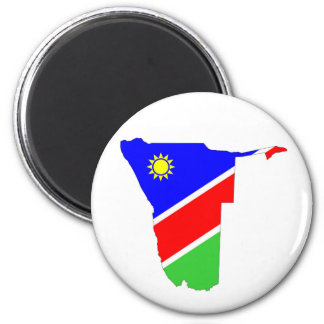 namibia country flag map shape symbol magnet