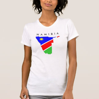 namibia country flag map shape symbol T-Shirt