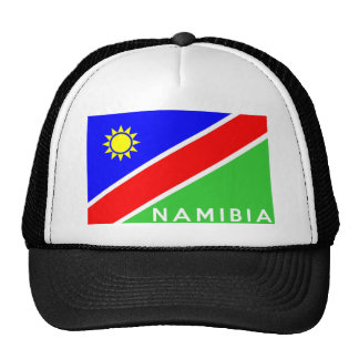 namibia country flag text name mesh hat