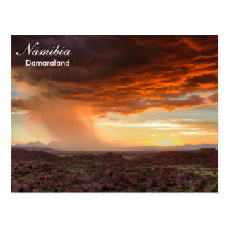 Namibia - Damaraland thunderstorm postcard