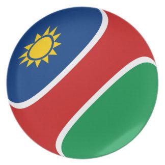 Namibia Fisheye Flag Plate