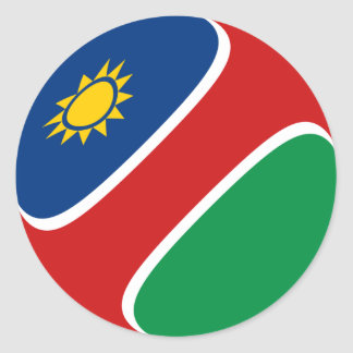 Namibia Fisheye Flag Sticker
