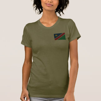 Namibia Flag and Map dk T-Shirt