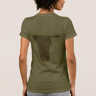 Namibia Flag and Map dk T-Shirt Shirt