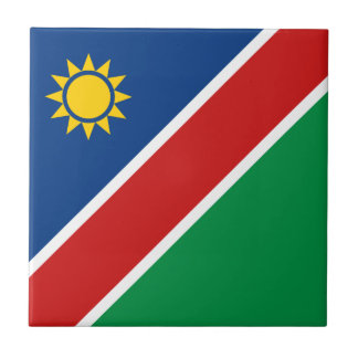 Namibia Flag Ceramic Tile