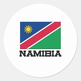 Namibia Flag Classic Round Sticker