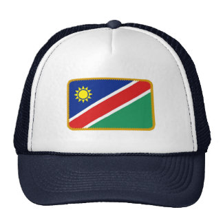 Namibia flag embroidered effect hat