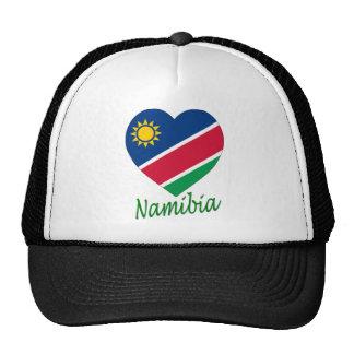 Namibia Flag Heart Cap