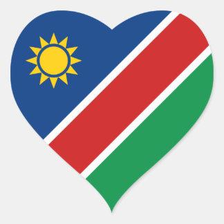 Namibia Flag Heart Sticker