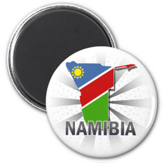 Namibia Flag Map 2.0 6 Cm Round Magnet