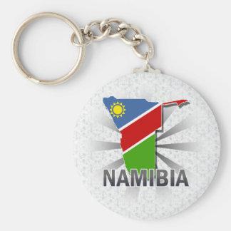 Namibia Flag Map 2.0 Basic Round Button Key Ring