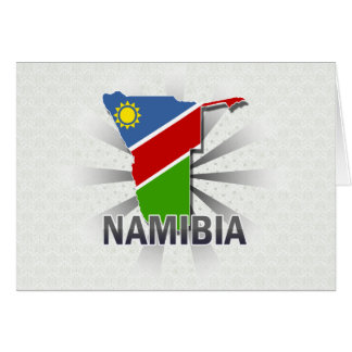 Namibia Flag Map 2.0 Greeting Card