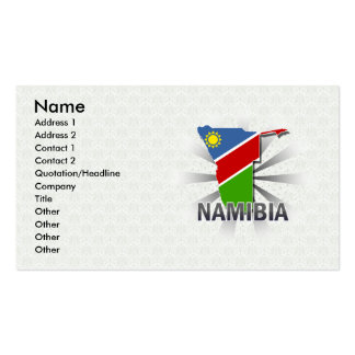 Namibia Flag Map 2.0 Pack Of Standard Business Cards