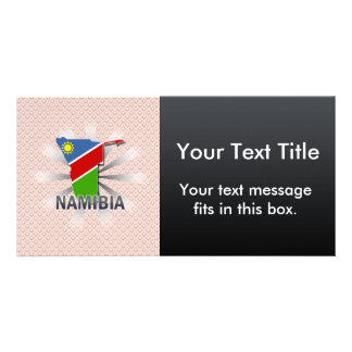 Namibia Flag Map 2.0 Picture Card