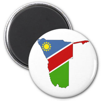 Namibia Flag Map full size 6 Cm Round Magnet