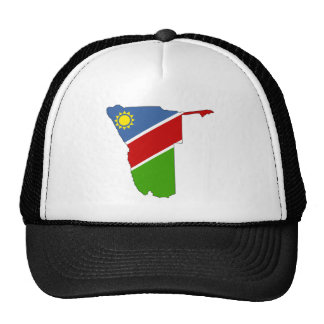 Namibia Flag Map full size Cap