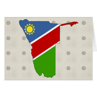 Namibia Flag Map full size Greeting Card