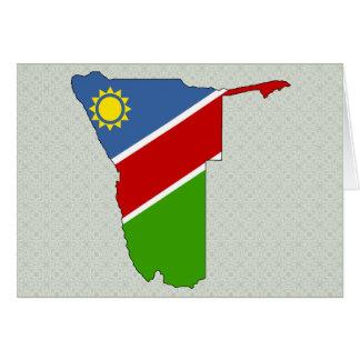 Namibia Flag Map full size Greeting Card