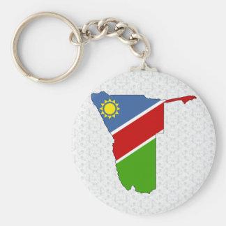 Namibia Flag Map full size Basic Round Button Key Ring