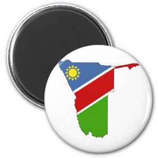 Namibia Flag Map full size Magnet