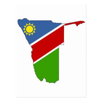 Namibia flag map postcard