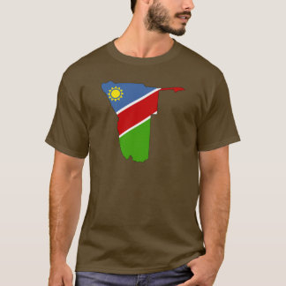 Namibia flag map T-Shirt