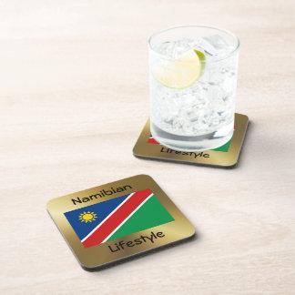 Namibia Flag+Text Coaster