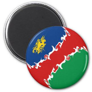 Namibia Gnarly Flag 6 Cm Round Magnet