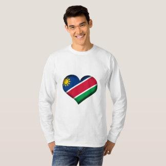 Namibia Heart Flag T-Shirt