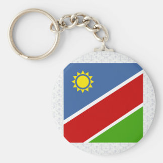 Namibia High quality Flag Basic Round Button Key Ring