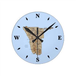 Namibia Map Clock
