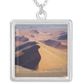 Namibia, Namib-Naukluft Park. Aerial view of Silver Plated Necklace