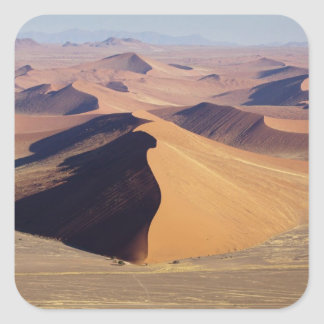 Namibia, Namib-Naukluft Park. Aerial view of Square Sticker