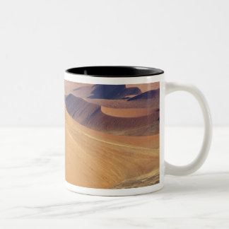 Namibia, Namib-Naukluft Park. Aerial view of Two-Tone Coffee Mug
