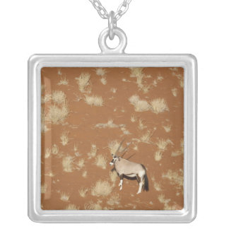 Namibia, Namib-Naukluft Park, Sossusvlei. Aerial Silver Plated Necklace