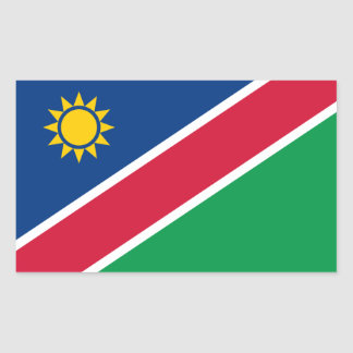 Namibia/Namibian Flag Rectangular Sticker