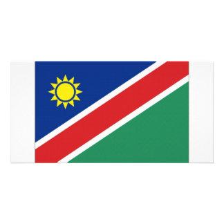 Namibia National Flag Custom Photo Card