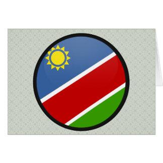 Namibia quality Flag Circle Greeting Card