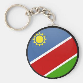 Namibia quality Flag Circle Basic Round Button Key Ring