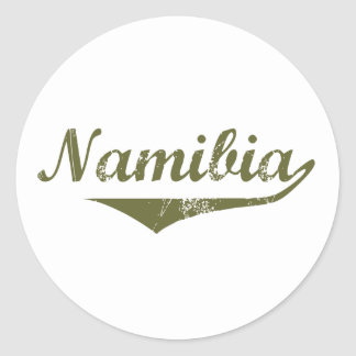 Namibia Revolution Style Classic Round Sticker