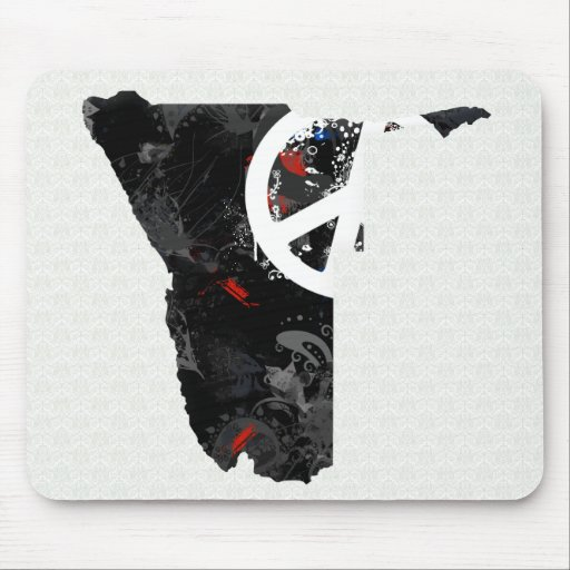 Namibia Trendy Peace Sign with Nambian map Mouse Pads