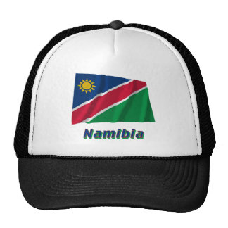 Namibia Waving Flag with Name Trucker Hat
